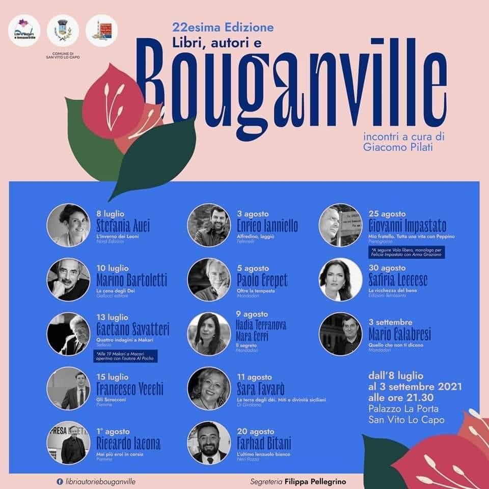 libri autori e bouganvillee
